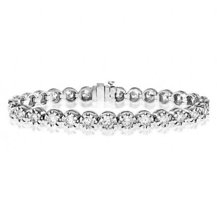 18K White Gold 7.37ct Diamond Bracelet, H1115